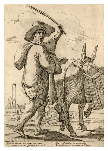 001- El vendedor ambulante de vasijas- 1660-Giuseppe Maria Mitelli--© Trustees of the British Museum