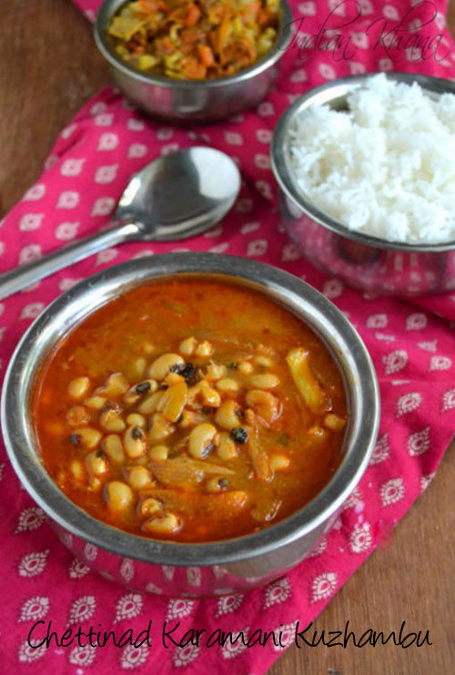 Chettinad Karamani Kara Kuzhambu Recipe