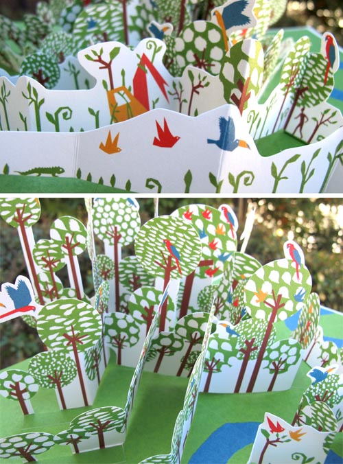 In the Forest - a pop-up book - internals