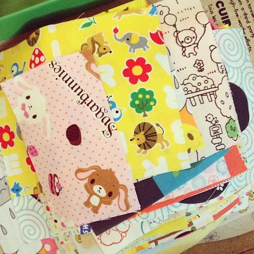 Pile of cute fabric.