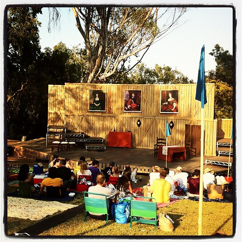 """Time again for free theater in the park with the Independent Shakespeare Company. Tonight is """"She Stoops to Conquer"""""""