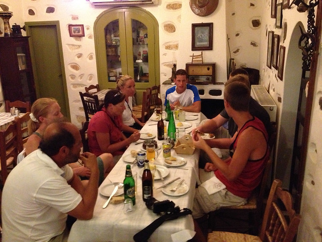 Dinner at Maro's Taverna in Naxos Chora, on the advice of our Kastro tour guide