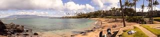 Image of Kapalua Beach. golf maui ritz kapalua coastaltrail beachwalk hawii flemingbeach napilikai wbayercom