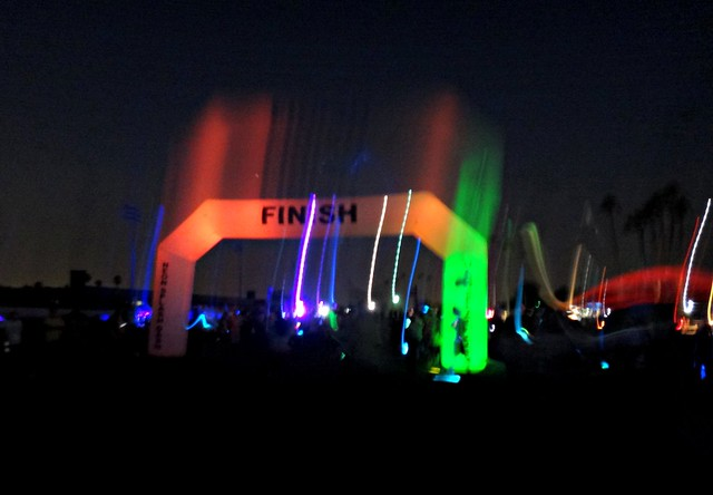 The finish line at The Neon Splash Dash