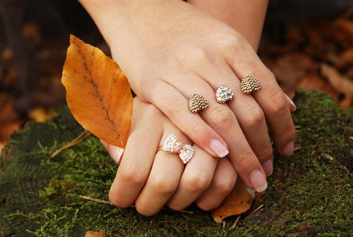 pierścionki z kokardą