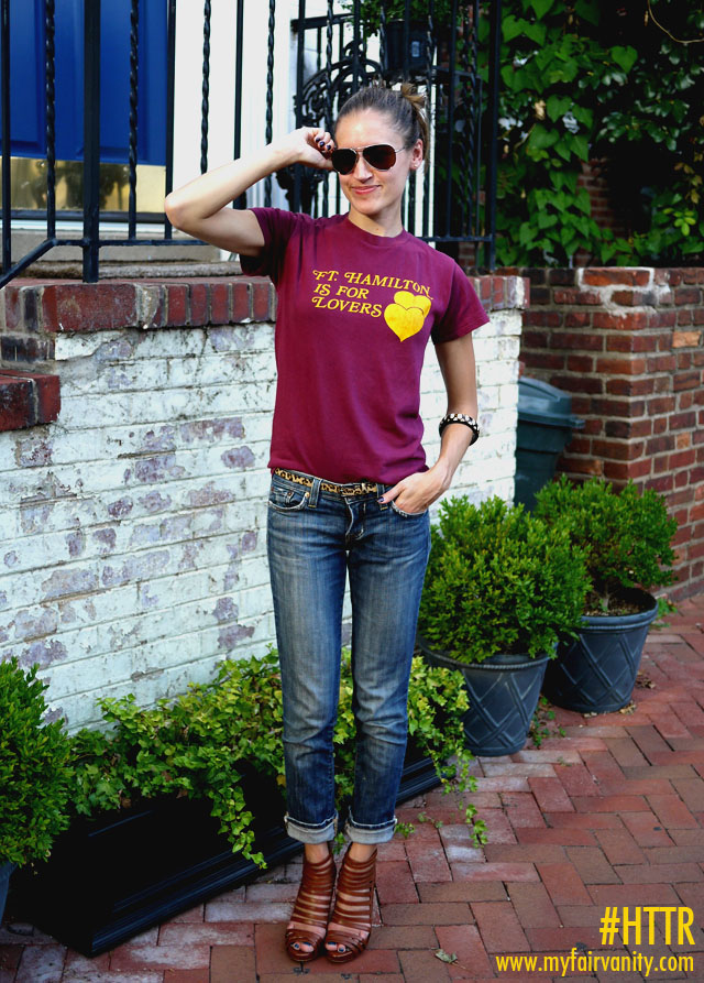 football season, vintage redskins t-shirts, game day style, my fair vanity