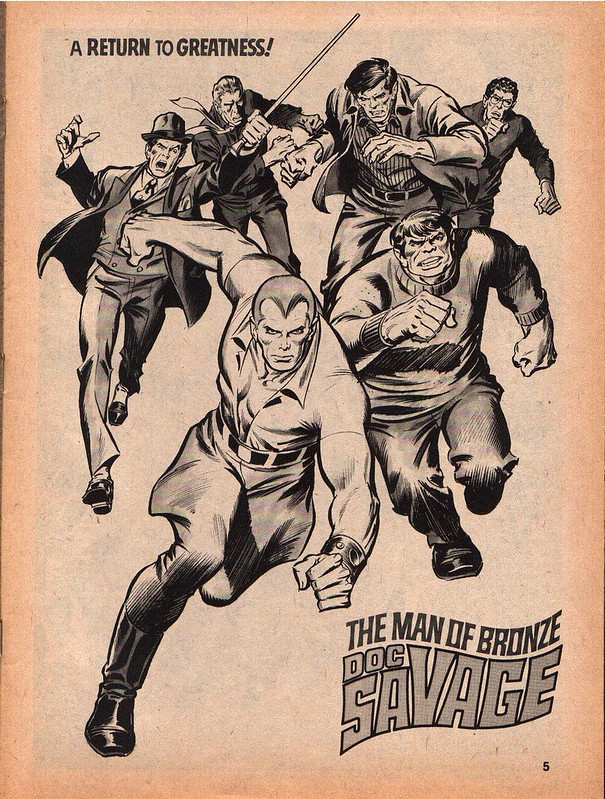 Doc Savage 01 1975 illustration by John Buscema and Tony DeZuniga