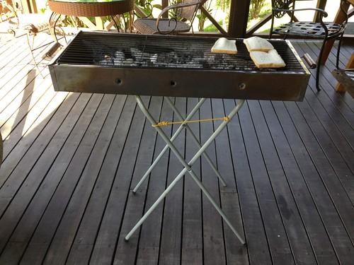 wood burning toaster