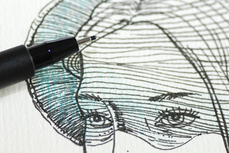 India ink, aquartelle paper