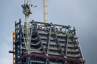 Vue depuis le sommet de The Monument - Building en construction