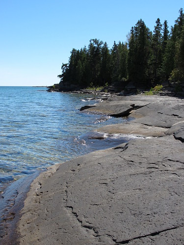 water rock manitoulin miserybay