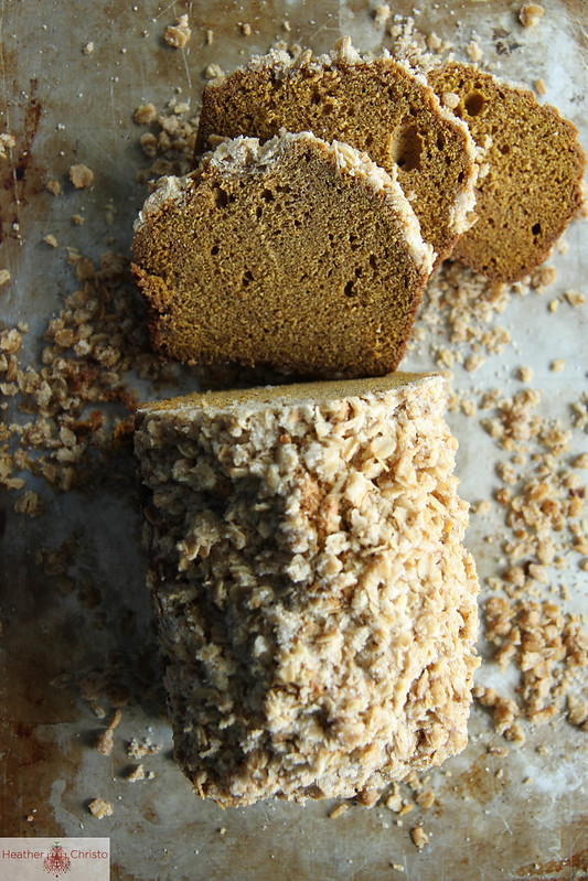 55 Pumpkin Recipes, like this Pumpkin Bread with Oatmeal Streusal