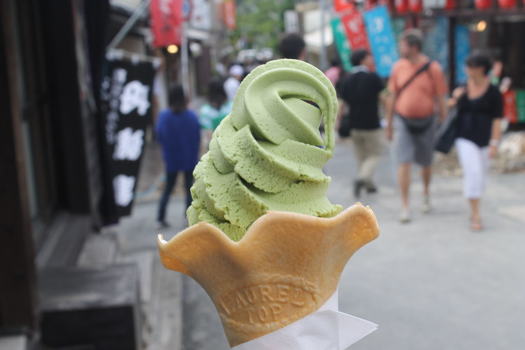 Matcha green tea ice cream = the best.
