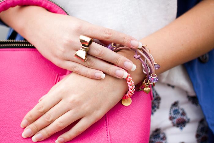 pierścionek z kokardą