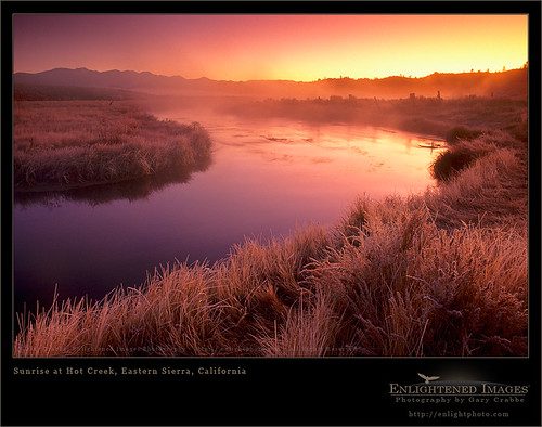Sunrise at Hot Creek, Eastern Sierra, California