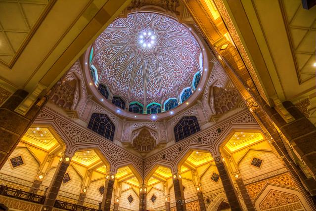 Interior of Dome | Putra Mosque, Putrajaya, Malaysia