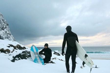 Na sever od slunce - surfování v Norsku