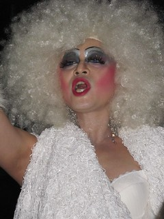 Drag queen in white