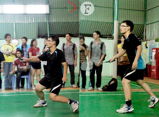 Giữ vững phong độ và phát huy bản lĩnh thi đấu vượt bậc, ngôi vị cao nhất của giải cầu lông đơn nam FTUGames 2013 chính thức thuộc về Thái Sơn – K50B