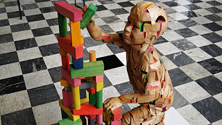 Child made of building blocks