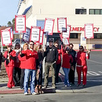 Watsonville Community Hospital Nurses Picket in a Demand for More Staff
