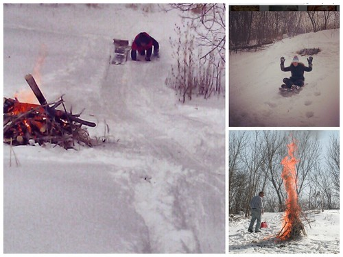 How to Survive a Holiday Staycation: Light 'em up sledding