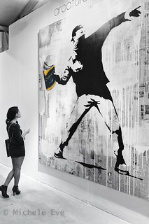 Banksy - Art Miami - Bansky Thrower