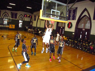 Roman's TreVaughn Wilkerson dunks, with authority, in this game vs. Sankofa in 2013-14 season. | by tedtee308