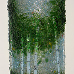 Number 20 - Arlyss Grosz, Colorado Aspen - Summer, fused glass, starting bid $60