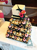 W9177-black-fuschia-wedding-cupcake-tower-toronto