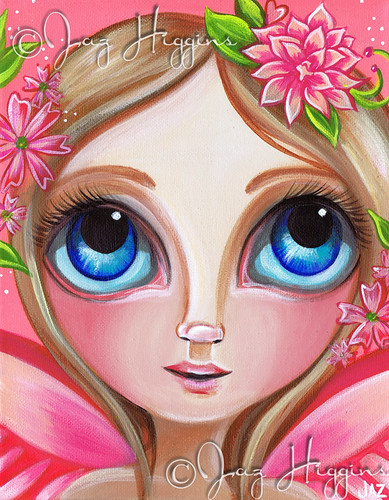 "Finished painting ""Pretty Pink Flower Fairy"""