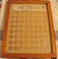 Homemade Large Cent coin board 1