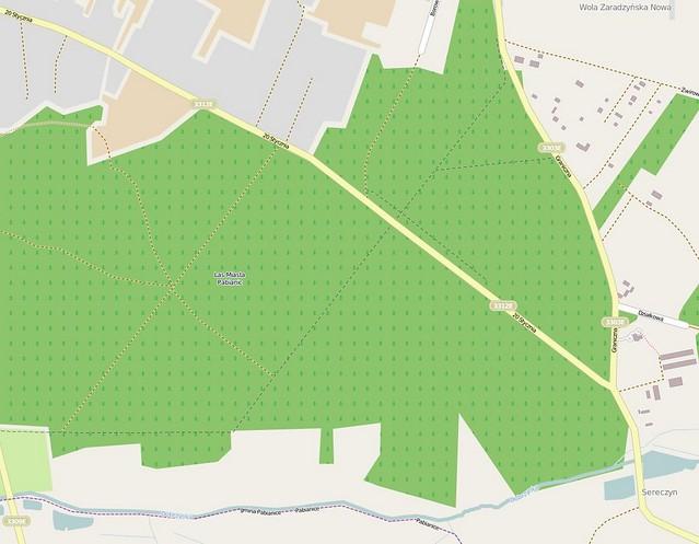 Las Pabianicki, mapa