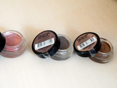 Maybelline Colour Tattoo 24 hours in Pink Gold, Permanent Taupe and On and On Bronze