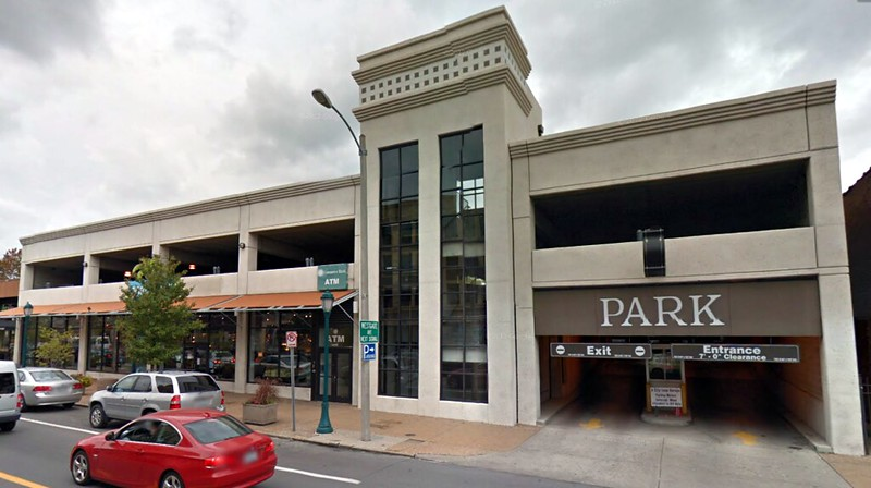 The University City-owned parking garage.  From Google Streetview.