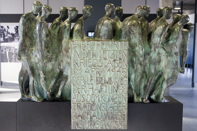 Dachau death march sculpture flickr photo sharing