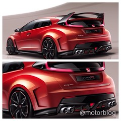 model car(0.0), automobile(1.0), automotive exterior(1.0), sport utility vehicle(1.0), wheel(1.0), vehicle(1.0), automotive design(1.0), sports sedan(1.0), rim(1.0), honda(1.0), honda civic type r(1.0), bumper(1.0), land vehicle(1.0), luxury vehicle(1.0), supercar(1.0), sports car(1.0),