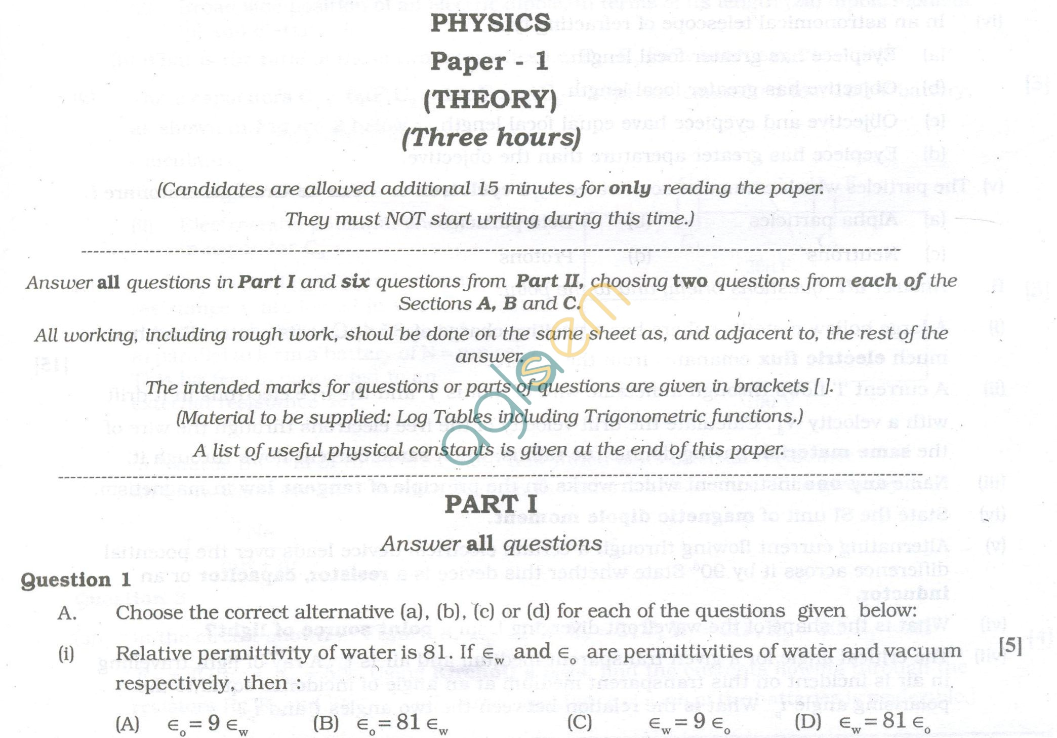 ISC Question Papers 2013 for Class 12 - Physics