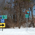 Traffic Signs on County Road 505, Englewood Cliffs, New Jersey