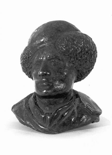 Riccio (Andrea Briosco) Bronze Bust Self-Portrait Italy (copy after original c. 1500) Bronze, 4 x 5 cm. Riccio (also known as Andrea Briosco) was a member of the humanist circles of the university city of Padua. He excelled in creating small bronzes that