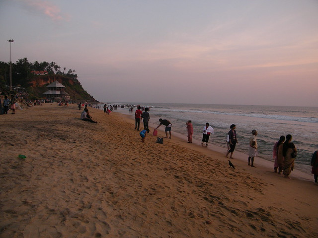 A view of Varkala Beach, Kerala