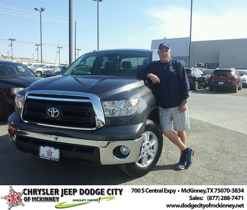 Thank you to David Thayer on your new 2012 #Toyota #Tundra 2Wd Truck from Brent Villarreal and everyone at Dodge City of McKinney! by Dodge City McKinney Texas