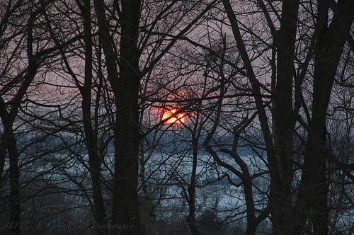 winter sunset ontario canada