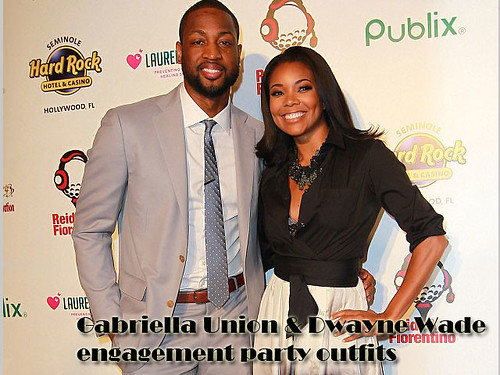 Gabriella Union & Dwayne Wade engagement party outfits