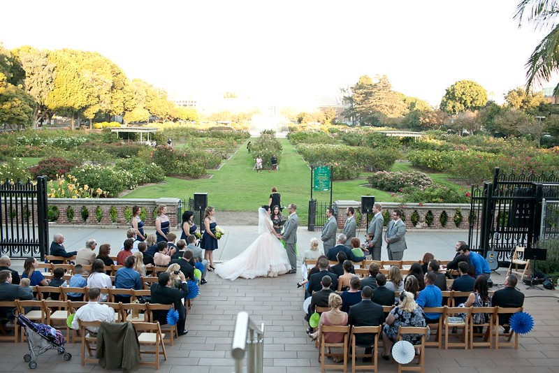 LA Rose garden was the backdrop for our ceremony