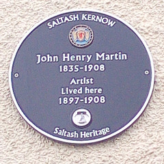Photo of John Henry Martin blue plaque