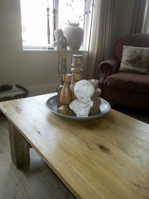 Landelijke decoratie salontafel