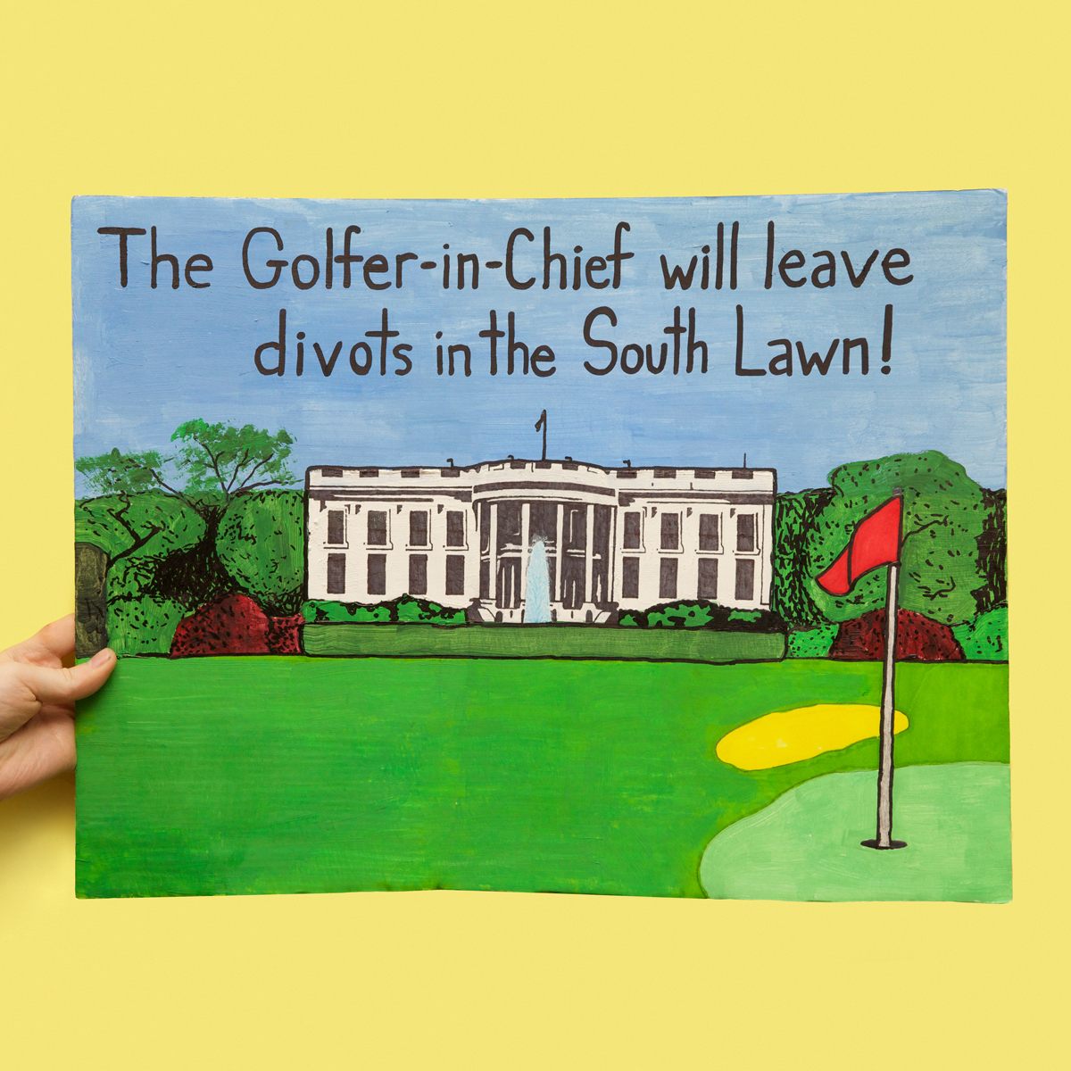 45 Protest Signs_Brandon and Olivia Locher_37_The Golfer and Chief