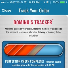 This is the problem with @dominos: my pie waiting to be delivered. ffs, hire more drivers.