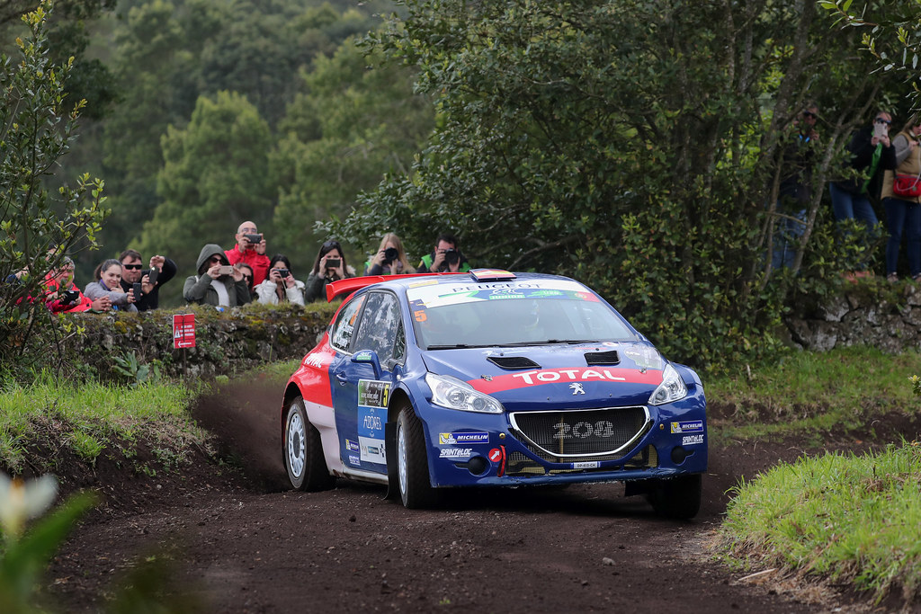 05 SUAREZ Jose Antonio ESTEVEZ Candido  Peugeot 208 T16 Action during the 2017 European Rally Championship ERC Azores rally,  from March 30  to April 1, at Ponta Delgada Portugal - Photo Jorge Cunha / DPPI